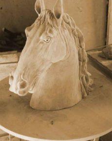 cavallo Antiche Terrecotte Berti Ripabianca